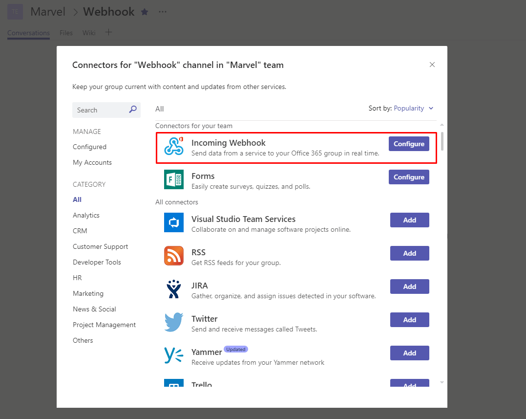 Microsoft Teams Webhook Integration – Harshad Ranganathan